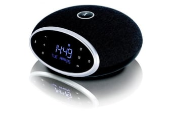 FLEAMARK Flea Market FM Radio AlarmClock with Bluetooth, AmbientLighting FMBTAC1BK
