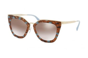 Prada PR53SS KJO4O0 52 Striped Brown Azure Womens Sunglasses