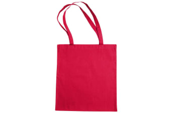 """Jassz Bags """"Beech"""" Cotton Large Handle Shopping Bag / Tote (Rouge Red)"""