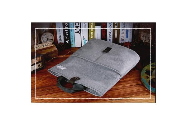 "Generic Casual Series 15.6"" Notebook Laptop Folding Multi-Style Carry Bag (Grey)"
