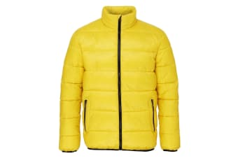 2786 Mens Venture Supersoft Padded Full Zip Jacket (Bright Yellow / Black)