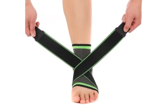 Ankle Support Braces - Compression Sleeve with Adjustable Strap for Women Men  P000127