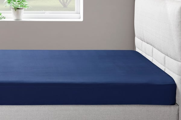 Ovela 400TC 100%  Bamboo Fitted Sheet (Single, Marine)