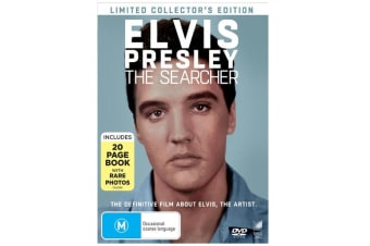 Elvis Presley The Searcher with Book Limited edition DVD Region 4