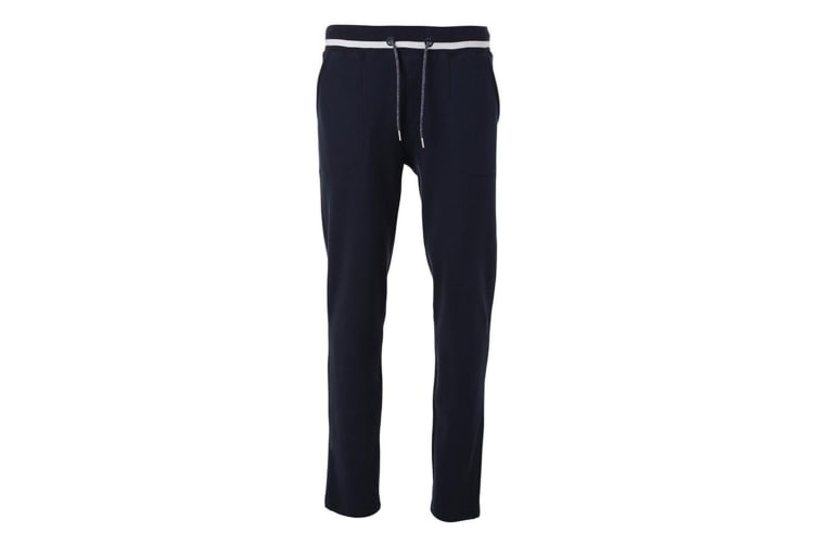 James and Nicholson Mens Jogging Bottoms (Navy/White) (L)