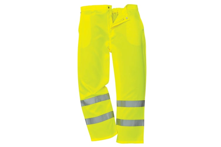Yoko Unisex Work Hi-Vis Trousers (Yellow) (32/L UK)