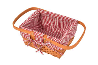Deluxe 2/4 Person Picnic Basket Baskets Set Outdoor Corporate Blanket Park Trip  -  F
