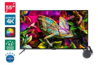 "Kogan 55"" 4K HDR LED TV (Series 8 JU8100) + Chromecast 3"