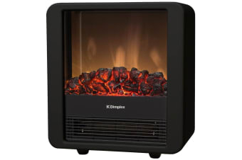 Dimplex Minicube B Electric Heater Fireplace Heat/Flame Smoke Coal Wood Effect