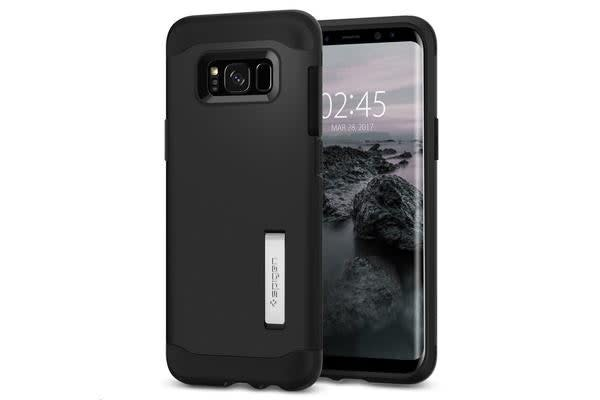 Spigen Galaxy S8+ Slim Armor Case Black. Certified Military-Grade Protection