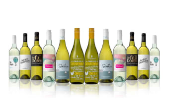 Australian Mixed White Carton Featuring Rosemount Chardonnay (12 Bottles)