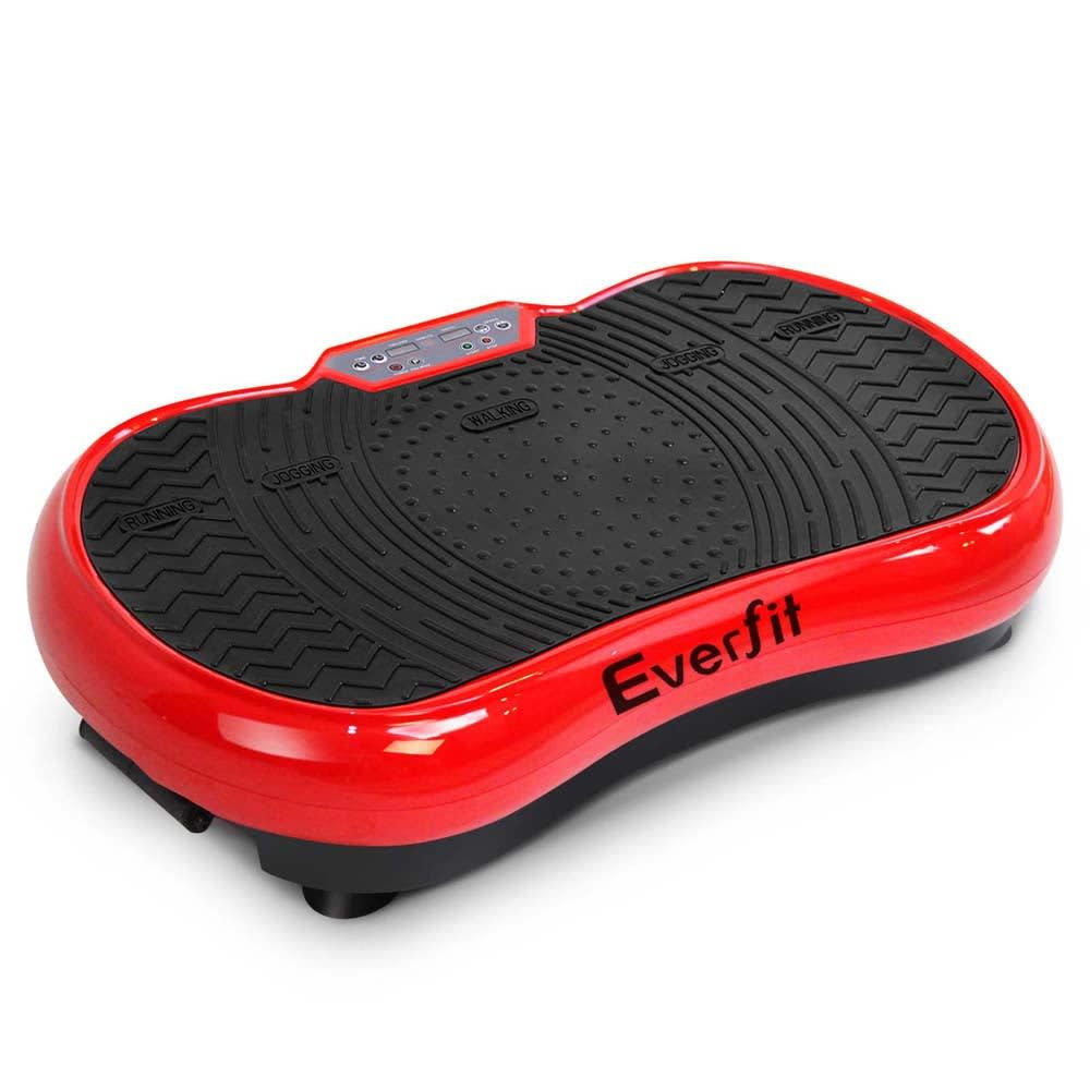 Image of 1000W Vibrating Plate with Roller Wheels (Red)