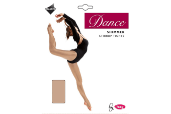 Silky Girls Dance Shimmer Stirrup Tights (1 Pair) (Light Toast) (7-9 Years)