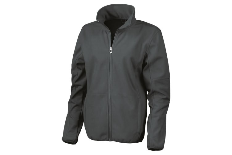 Result Womens/Ladies La Femme® Osaka Combed Pile Softshell Jacket (Waterproof  Windproof And Breathable) (Black) (S)