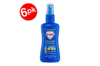 6x Aerogard 135ml Odourless Adult/Kids Insect Repellant Spray Pump 4h Protection