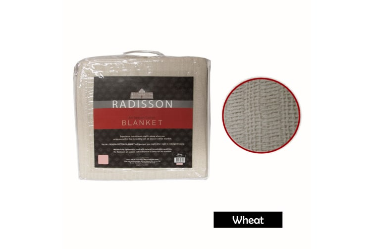 Radisson All Season Cotton Blanket Wheat QUEEN