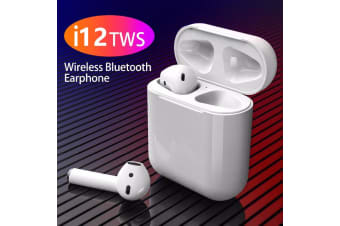 TWS i12 Original Bluetooth Wireless Earphones - White