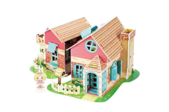 Sweet Villa Dollhouse 3D Puzzle 84pcs