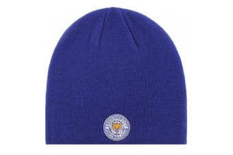 Leicester City FC Beanie Knitted Hat (Royal Blue)