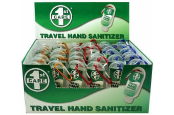 1st Care Box with 36 Travel Size Hand Sanitiser Anti Bacterial Bulk 53ml