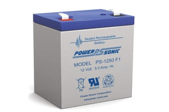 Powersonic PS1250 12V 5AMP SLA Rechargeable Battery F1 Terminal Sealed Lead Acid