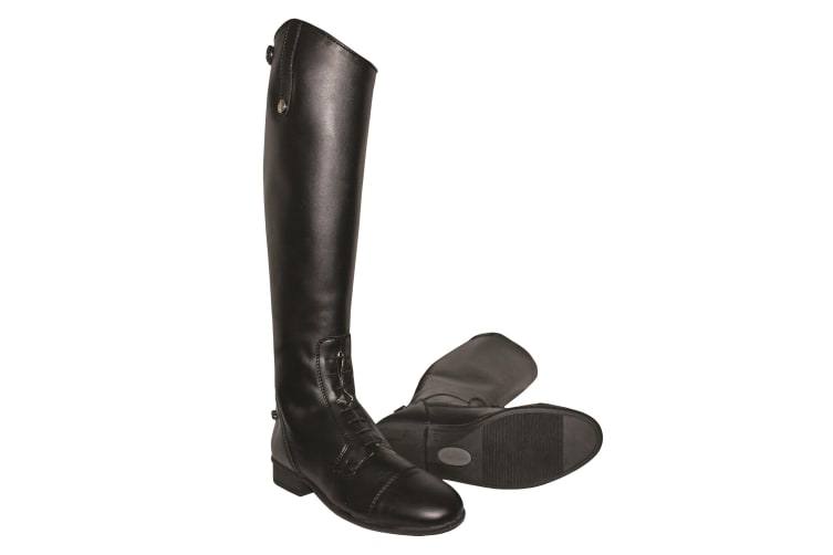 Mark Todd Adults Toddy Tall Leather Synthetic Field Boots (Black) (6 UK (Standard))