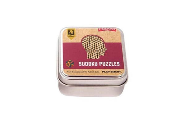 Official Rubik`s Mindbending Tabletop Puzzles In A Tin - Sudoku