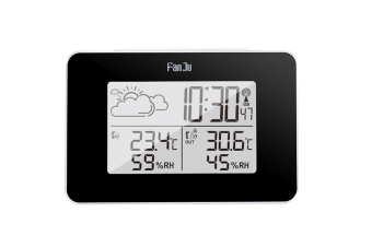 Multifunctional Electronic Alarm Clock For Temperature And Humidity Weather Forecast - Black Black