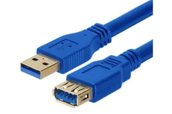 Astrotek USB 3.0 Extension Cable 2m - Type A Male to Type A Female Blue Colour