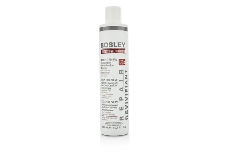 Bosley Professional Strength Bos Renew Scalp Micro-Dermabrasion Booster - Step 2 (For All Hair Types) 300ml