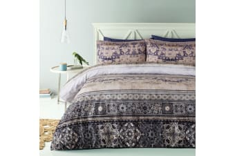 Weddie Brown Quilt Cover Set by Big Sleep