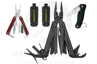 LATEST '18 LEATHERMAN BLACK WAVE PLUS + MULTITOOL + BITKIT + CRATER + SQUIRT RED