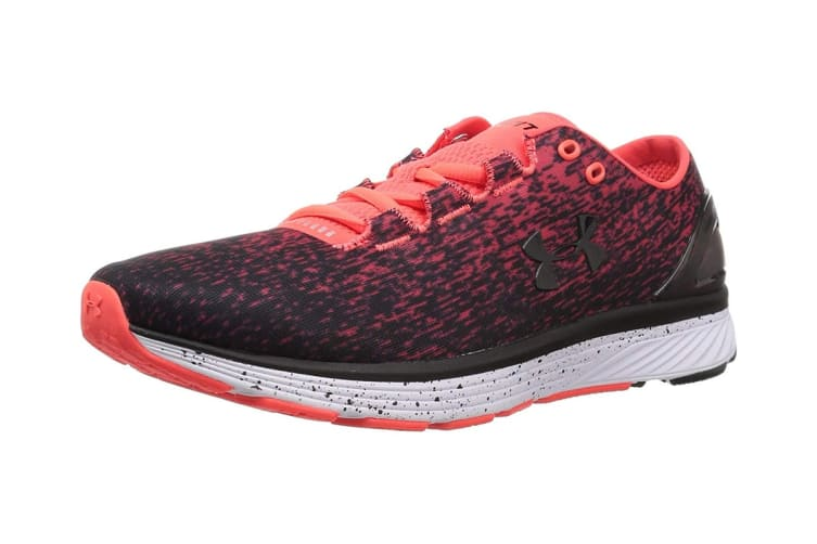 Under Armour Men's Charged Bandit 3 Ombre Shoe (Neon Coral/Black, Size 10.5)