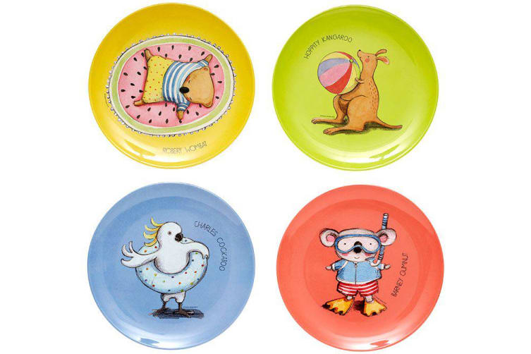 Ashdene Summer Holiday with Barney Gumnut & Friends Kids Plate Set of 4