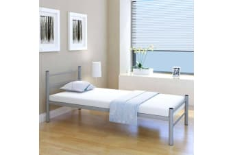 vidaXL Bed Frame Grey Metal King Single Size