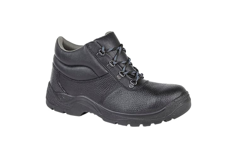 Grafters Mens Padded Collar D-Ring Chukka Safety Boots (Black) (5 UK)