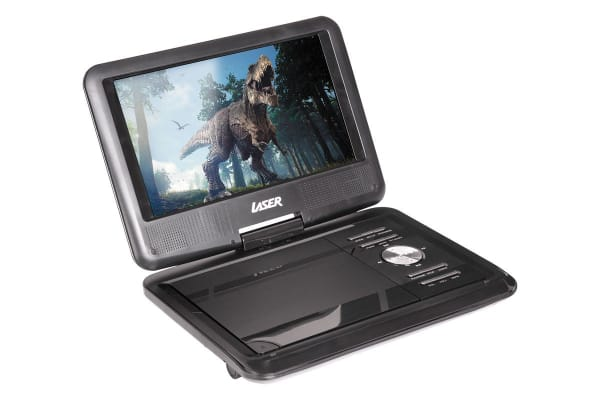 "Laser Portable DVD Player 9"" With Bonus Pack"