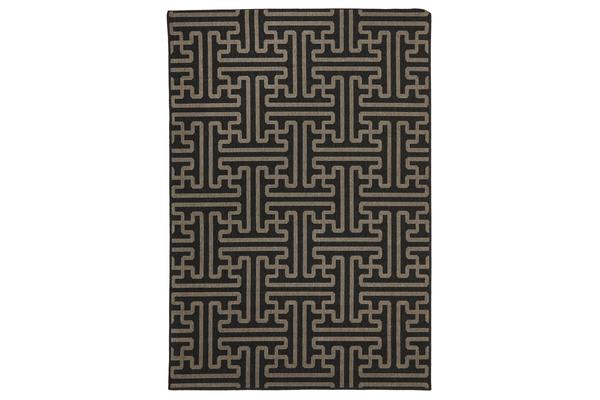 Seville Geo Charcoal Outdoor Rug 320X230cm