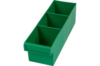 Green 300Mm Medium Parts Tray Storage Drawer With Dividers