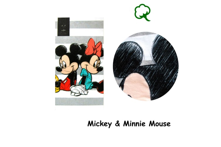 Cotton Bath / Beach Towel Mickey & Minnie Mouse by Disney