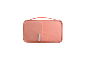 Passport Bag Oxford Cloth Portable Waterproof Card Bag Pink S