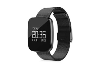 TODO Bluetooth V4.0 Smart Watch Heart Rate Blood Pressure Ip67 0.96 Oled - Black Metal