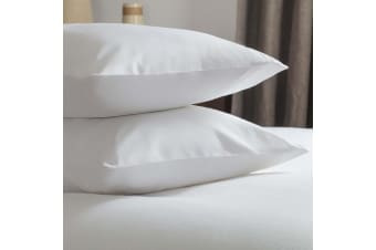 Belledorm Brushed Cotton Housewife Pillowcase (Pair) (White) (One Size)