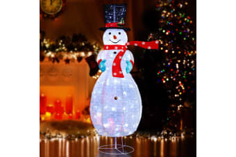 Christmas Lights Motif Foldable Snowman 120 LED Outdoor Decorations Display