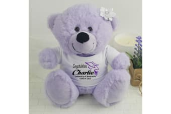 Personalised Graduation Teddy Bear - Lavender