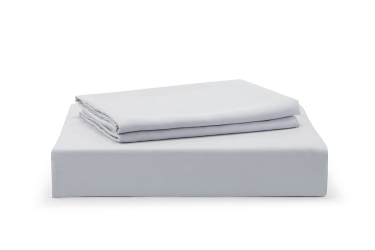Ovela 100% Tencel™ Bed Sheet Set (Queen, Pale Grey)