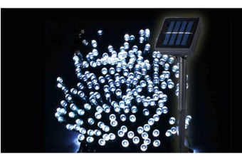500LED 52m Solar Power Thicker String Light COOL WHITE