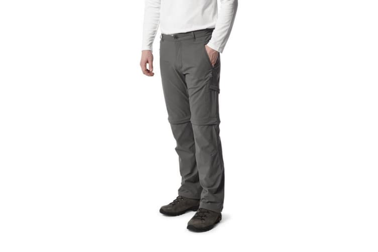Craghoppers Mens NosiLife Pro Convertible II Trousers (Elephant) (30S)