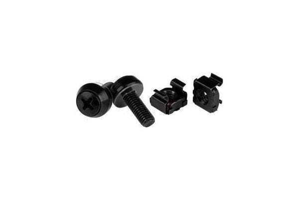 STARTECH M6 x 12mm - Screws and Cage Nuts - 50 Pack Black