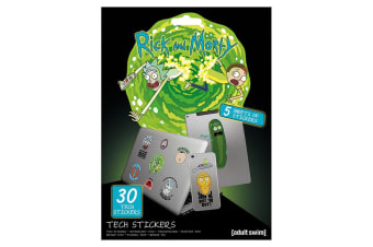Rick And Morty Official Laptop Macbook Stickers (Various) (One Size)